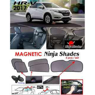 Honda HRV 2016 - 2018 Magnetic Ninja Sun Shades ( 5pcs/set ) Premium Quality