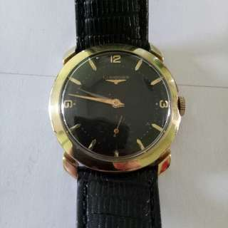 Longines solid 14k gold Art Deco watch