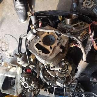 XR 200 engine cylinder parts wiring cdi