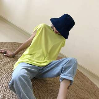 VM 夏2018新款女 隨性 簡約寬鬆 bf風 飄逸個性休閒T恤 2色