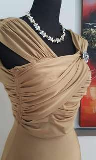 FOR RENT: Gold Long Gown