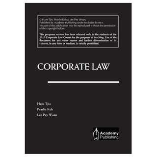 Corporate Law Hans Tjio Pearlie Koh Lee Pey Woan TKL
