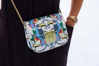 Furla metropolitan sling bags