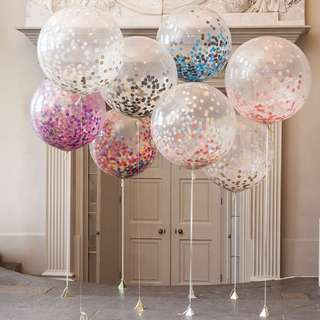 "🚚 36"" Party Glitter Balloons"