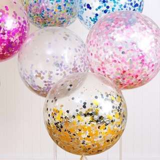 "🚚 12"" Party Glitter Balloon Set"