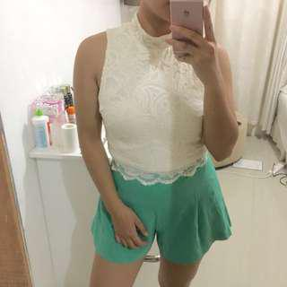 H&M lace halter top