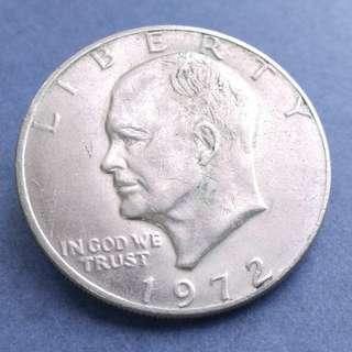 1972 艾森豪威爾一美元硬幣一枚