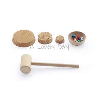 🚚 Montessori Pin Hammer and Cork Mat