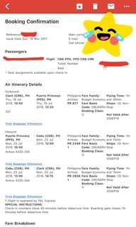 PAL Roundtrip Ticket Clark to Puerto Princesa
