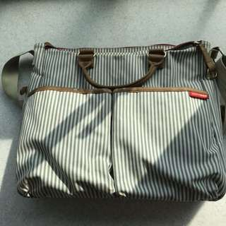 Skip Hop Duo Special Edition French Stripe Diaper Bag