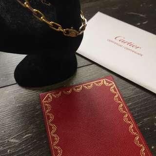 二手真貨 Cartier 750 YG 手鏈 連証書