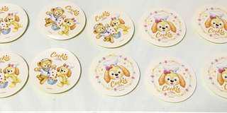HK Disney cookie stickers 香港迪士尼曲奇貼紙