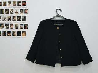 ZARA Audrey Hepburn Inspired Classic Black Blazer