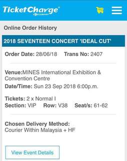 SEVENTEEN IDEAL CUT IN KL TICKET TO LET GO 🌸