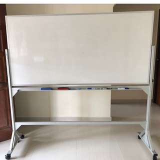Mobile Magnetic White Board-Aluminium Stand