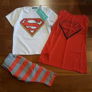 Superman 3-in-1 red set wing