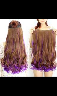 Preorder Ombre two tone gradient dip dye wavy clip on hair extension * waiting time 15 days after payment is made * chat to buy to order