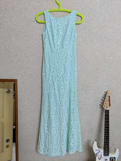 Mint Green Lace Gown