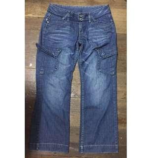 Mango wide leg denim pants