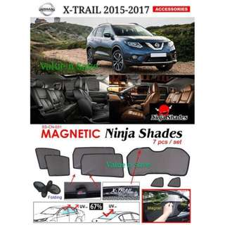 Nissan X-TRAIL 2015 - 2017 Magnetic Ninja Sun Shade (7pcs/set) Premium Quality