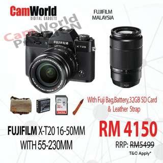 FUJIFILM X-T20 16-50 + 55-230MM