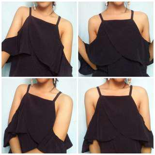 Black off-shoulder tank