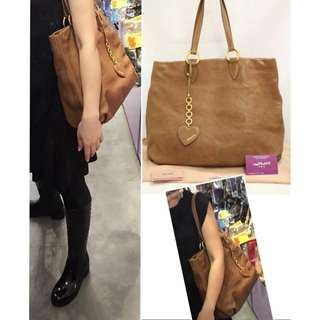 全新 MIU MIU RR1748 啡色 心心吊飾 肩背袋 手提袋 手袋 Brown Shoulder Bag Heart Charm