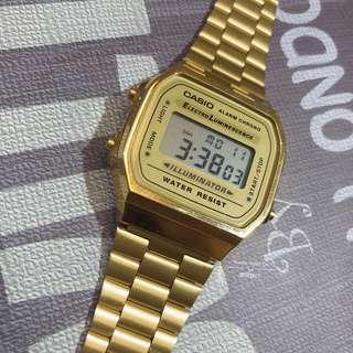 Casio classic original 經典款 金色