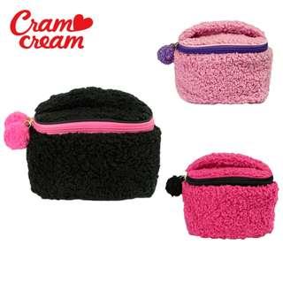 安賣王_超萌物!日本cram cream 甜美舒柔絨 毛絨化妝包 收納袋 收納包 萬用包 多用包