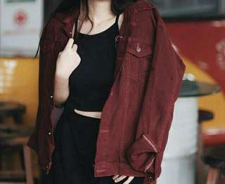 Maroon basic jacket
