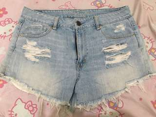 American Eagle Outfitters ripped denim shorts