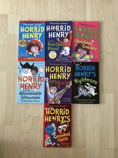 Horrid Henry / Horrid Henry and the Football Fiend / Horrid Henry's Christmas Cracker / Horrid Henry and the Abominable Snowman / Horrid Henry Rocks / Horrid Henry's Nightmare / Horrid Henry's Cannibal Curse By Francesca Simon