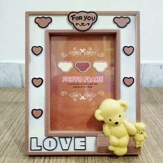 Bear Loves Frame / Bingkai Foto Love Beruang