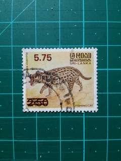 1985 斯里蘭卡 動物加蓋改值 舊票一套