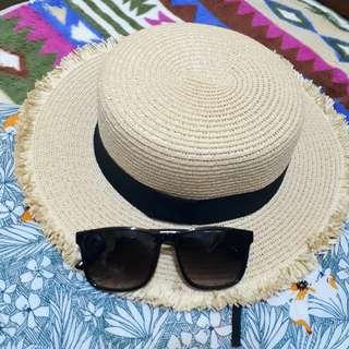 queen shop夏日海灘草帽