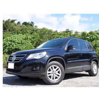 2011年 福斯 TIGUAN帝觀 2.0TSI 僅跑8萬公里 全額貸款 只需3500設定費即可交車