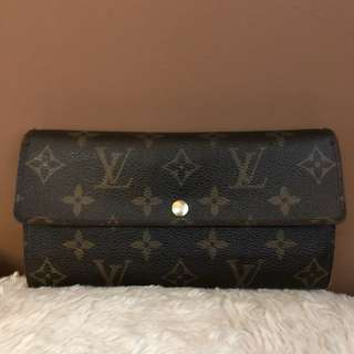 Authentic Louis Vuitton Monogram Portefeiulle Sarah Long Bifold Wallet
