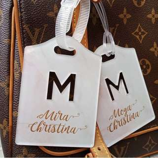 CUSTOM MARBLE BAG TAG