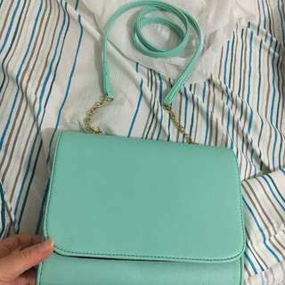 Tas hnm mini clutch warna mint