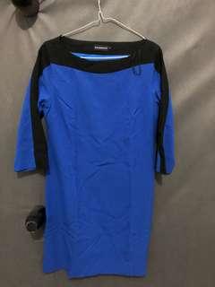 THE EXECUTIVE WOMAN DRESS BLUE