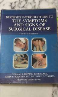 Browse's introducton to signs n symptoms of surgical disease 4th ed