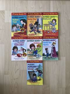 Early Reader: Horrid Henry's Author Visit / Horrid Henry's Rainy Day / Horrid Henry's Homework / Horrid Henry and Moody Margaret / Horrid Henry's Holiday / Horrid Henry Meets the Queen / Moody Margaret's School by Francesca Simon