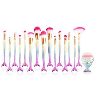 Mermaid Brush Makeup ( 16 pcs )