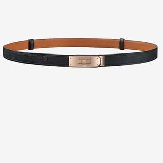 Hermes Kelly belt with Rose gold buckle