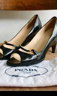 Prada Peep Toe Authentic