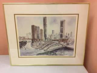 Singapore River Watercolor - Limited Edition Print
