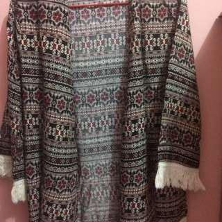 Boho Tribal Pattern Cardigan