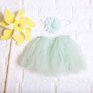 🚚 Instock - 2pc mint tutu set, spring summer 2018 collection