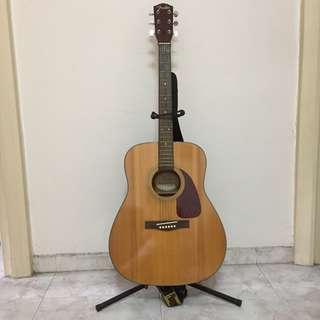 Fender DG-7 Acoustic Guitar With Stand & Shoulder Strap