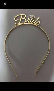 Brand new bride hairband